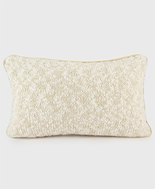 Pluchi Cotton Knitted Cushion Cover - Gold Metallic