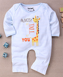 Tiny Bee Stylish Striped Play Suit - White & Blue