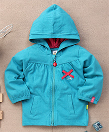 Tiny Bee Infant Hooded Jacket - Blue