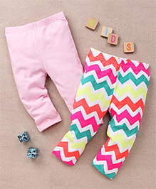 Tiny Bee Trendy Leggings Set - Pink & Multicolor