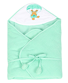 Tinycare Hooded Towel Deluxe Parachute Print - Green