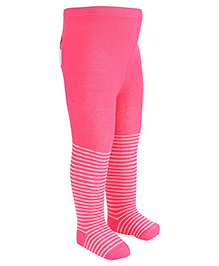 Bonjour Footed Tights Barbie Design - Dark Pink
