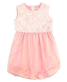 Campana Sleeveless Bubble Hem Dress - Pink