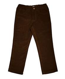 Campana Full Length Cotton Twill Pants - Dark Brown