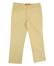 Campana Full Length Cotton Twill Pants - Beige