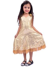 Kilkari Sequins Dress - Golden