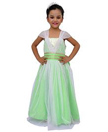 Kilkari Cap Sleeve Party Gown - Green