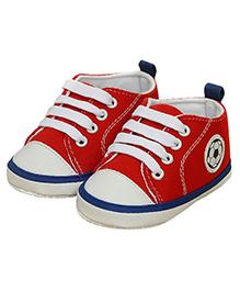Wow Kiddos Soft Sole Prewalkers Sneaker - Red