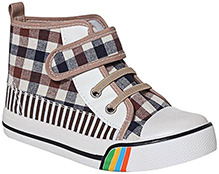 Cute Walk - Ankle Shoes With Checks Print