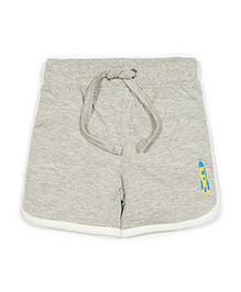 Solittle Drawstring Beach Shorts Rocket Embroidery - Grey
