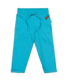 Solittle Full Length Drawstring Pant Embroidered Design - Blue