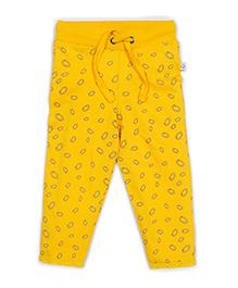 Solittle Full Length Drawstring Pant Allover Design - Yellow