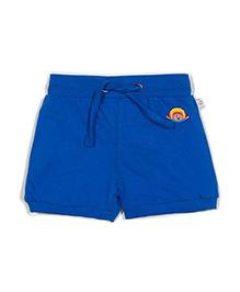 Solittle Drawstring Shorts Embroidered Design - Blue