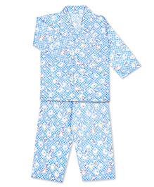 KID1 Sweet Panda Print Shirt & Pajama Set - Blue