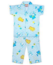 KID1 Teddy Toys Night Suit - Blue