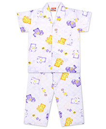 KID1 Teddy Toys Night Suit - Purple