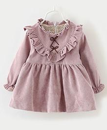 Aww Hunnie Beautiful Winter Dress - Purple