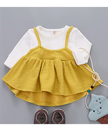 Aww Hunnie Cute Baby Dress - Yellow