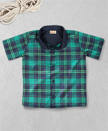 Knotty Kids Checkered Shirt - Green