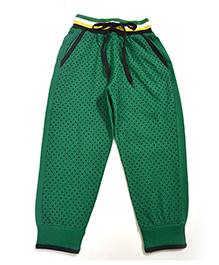 LOL Full Length Dots Print Track Pants - Green