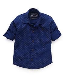 Jash Kids Full Sleeves Printed Shirt - Royal Blue
