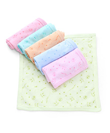Zero Printed Face Towels Pack Of 6 - Multi Color