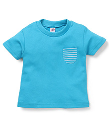 Zero Half Sleeves T-Shirt With Chest Pocket - Blue