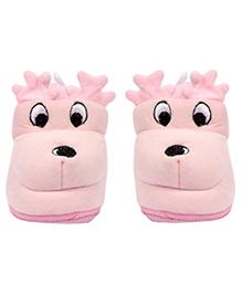 Miss Diva Reindeer Pair Of Booties - Pink