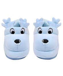 Miss Diva Reindeer Pair Of Booties - Blue