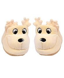 Miss Diva Reindeer Pair Of Booties - Cream