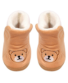 Miss Diva Trendy Teddy Boots - Brown