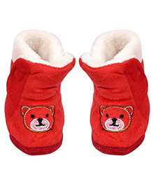 Miss Diva Trendy Teddy Boots - Red