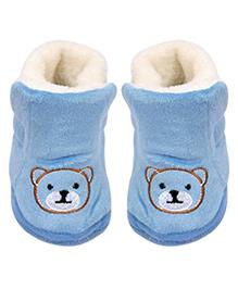 Miss Diva Trendy Teddy Boots - Blue