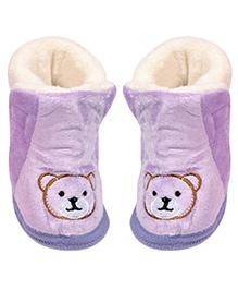 Miss Diva Trendy Teddy Boots - Purple
