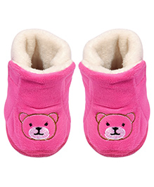 Miss Diva Trendy Teddy Boots - Magenta Pink