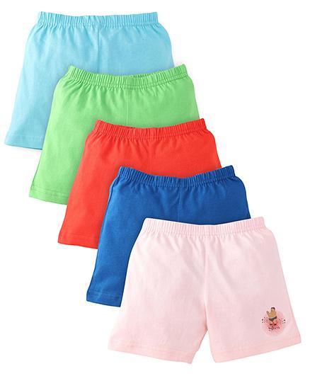 Chhota Bheem Shorts Pack Of 5 - Multicolor