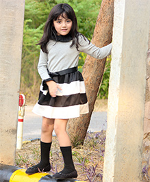 Dress My Angel Stripes Diva Dress - Black & Grey