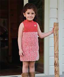 Dress My Angel Organic Hand Knitted Reversible Tunic - Pink