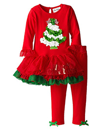 Awabox Christmas Tree Tutu Dress & Pant - Red