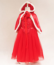 Pre Order - Awabox Christmas Cloak Pattern Party Dress - Red