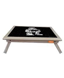 Orka Storm Trooper Digital Printed Folding Laptop Table - Black
