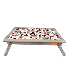 Orka Star Wars Digital Printed Folding Laptop Table - White And Red