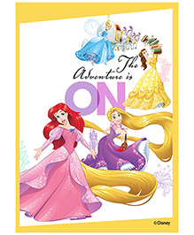 Orka Wall Poster Princess The Owenture Is On Digital Print With Lamination - White And Yellow