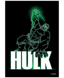 Orka Wall Paper Marvel Glossy Hulk Digital Print With Lamination - Black