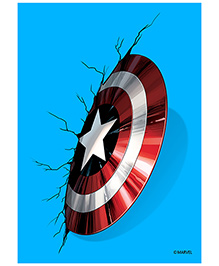 Orka Wall Poster Marvel Captain America Shield Digital Print With Lamination - Blue And Red - 1223263