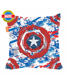 Orka Captain America Shield Digital Printed Polyfill Cushion - Red And Blue