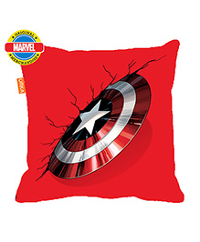 Orka Captain America Shield Digital Printed Polyfill Cushion - Red