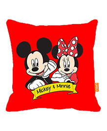 Orka Mickey & Minnie Digital Printed Micro Beads Cushion - Red
