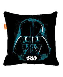 Orka Darth Vader Face Digital Printed Micro Beads Cushion - Black