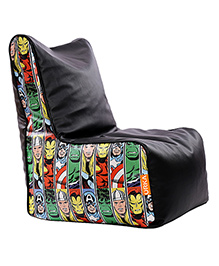 Orka Marvel Avengers Digital Printed Bean Chair XL Cover - Black Multi Color